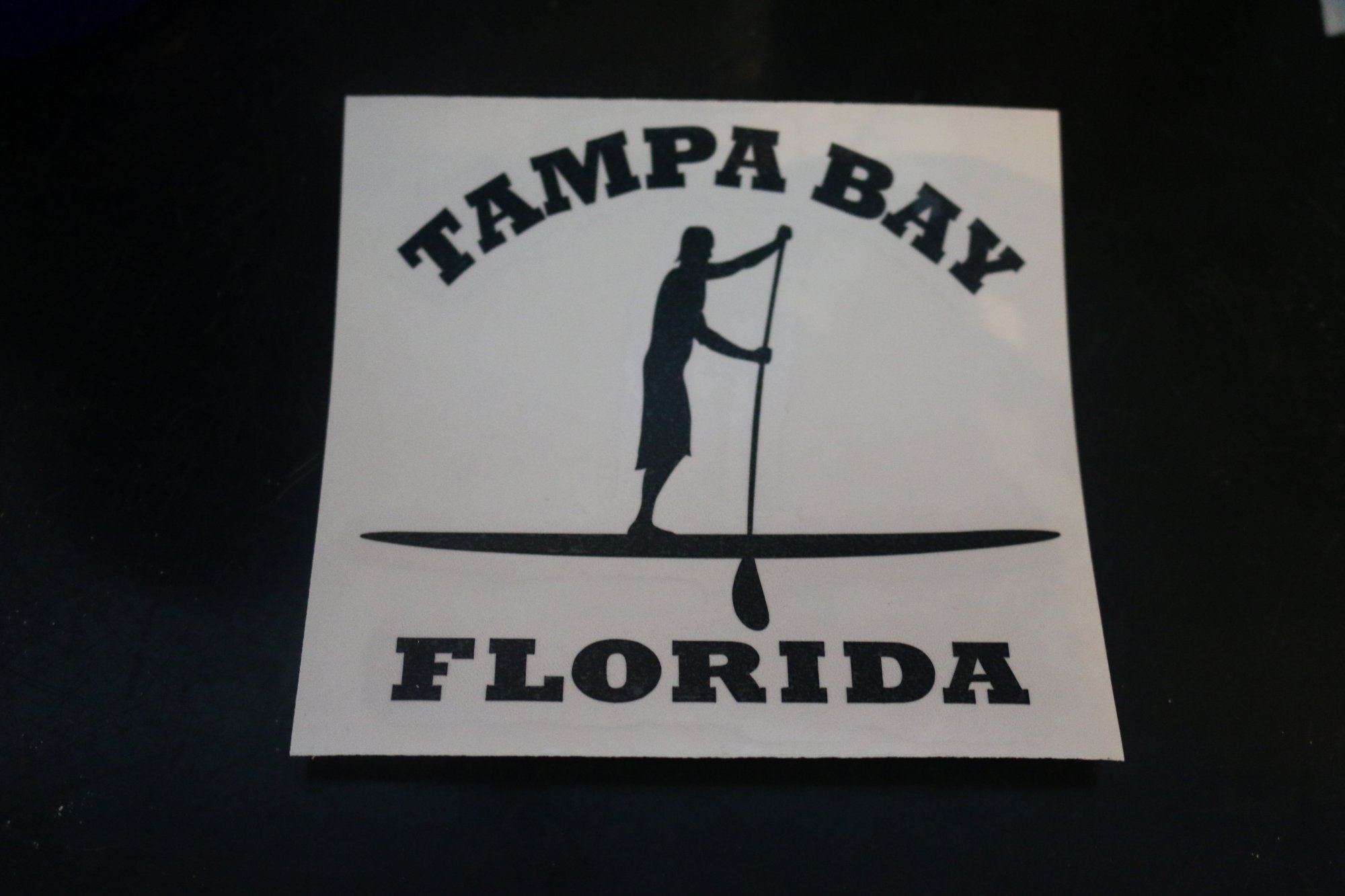 Sticker - Stand Up Paddle Boarder Tampa Bay White