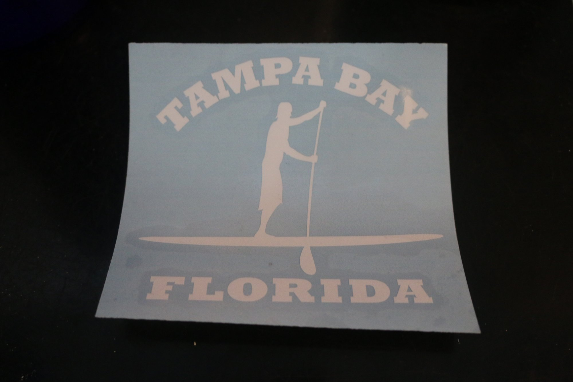 Sticker - Stand Up Paddle Boarder Tampa Bay Blue
