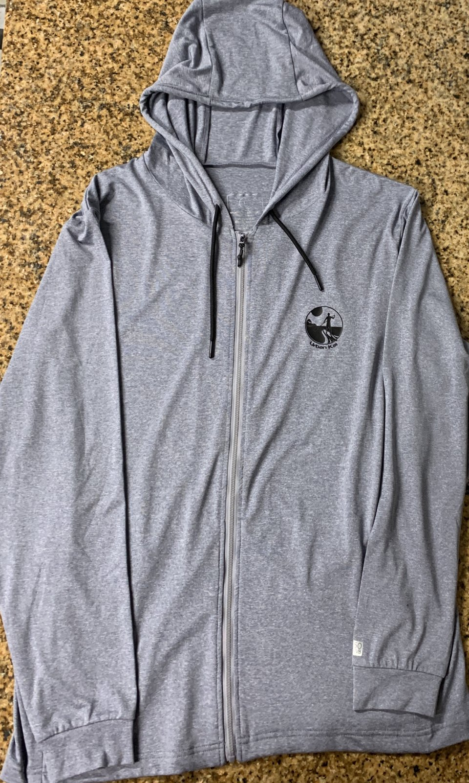 UK Sun Shirt Zip-Up Hoodie Grey