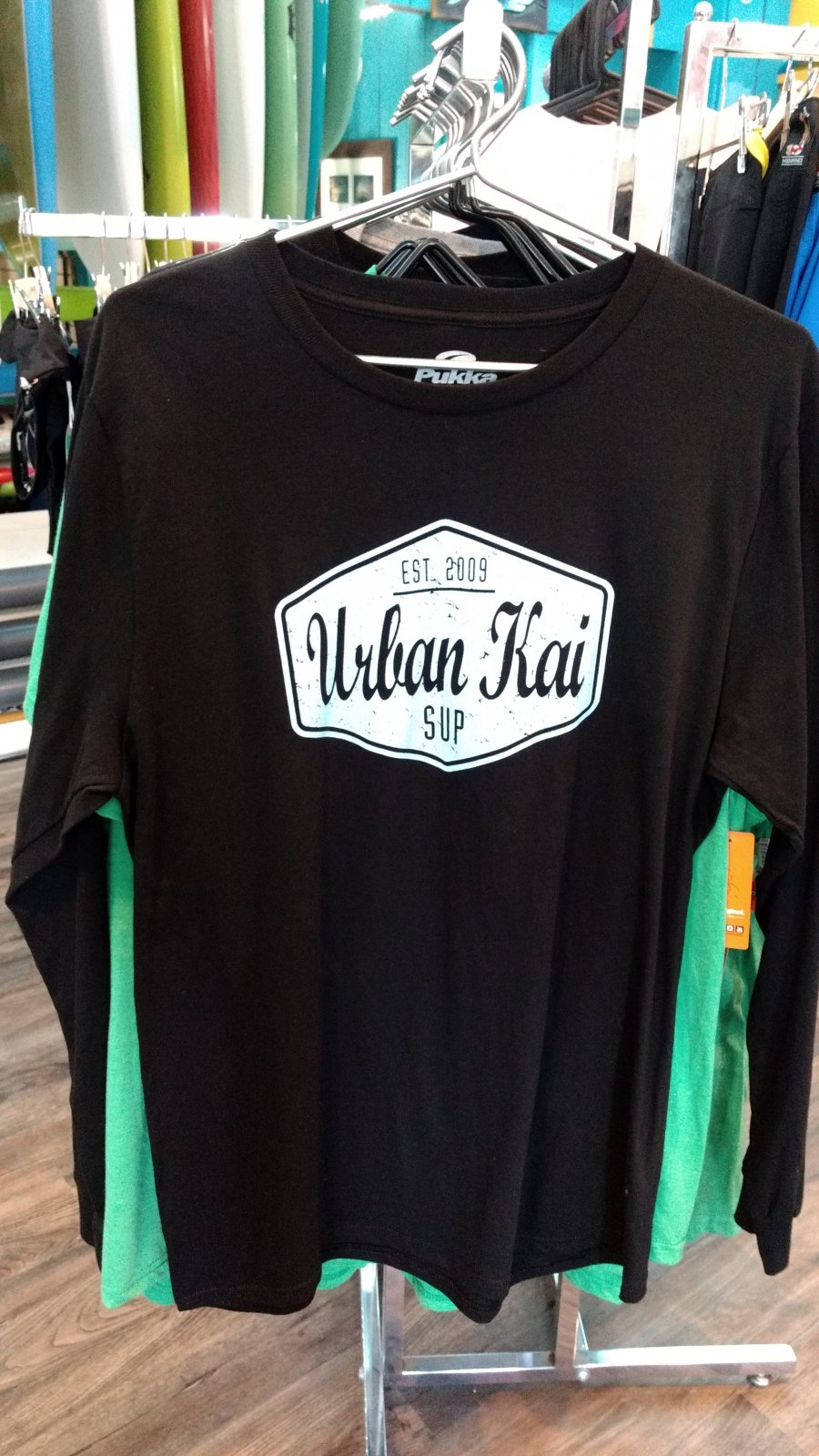 Urban Kai Premium Long Sleeve Tee Black - XLarge