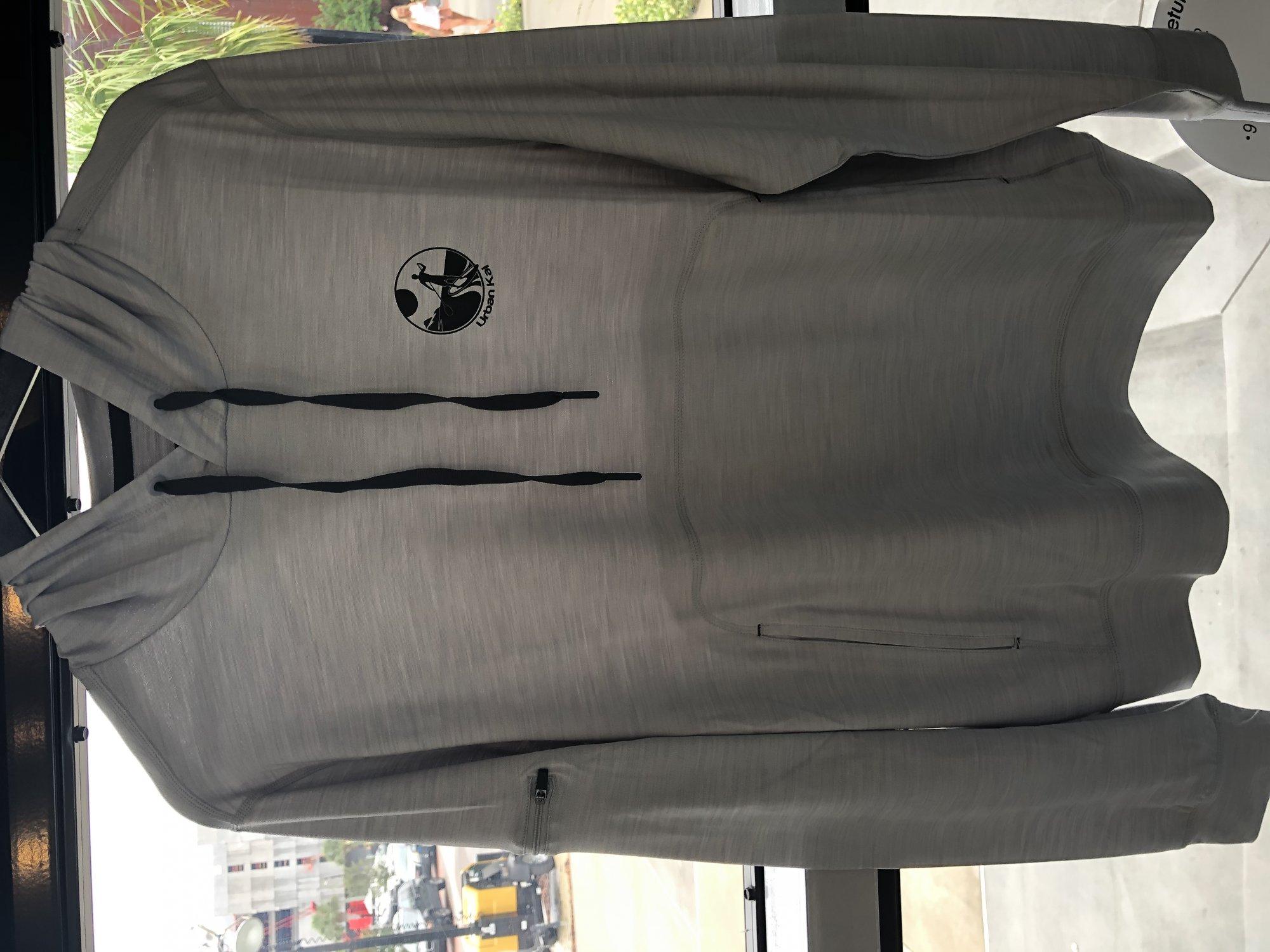 UK L/S Hooded Tech Shirt-Light Grey