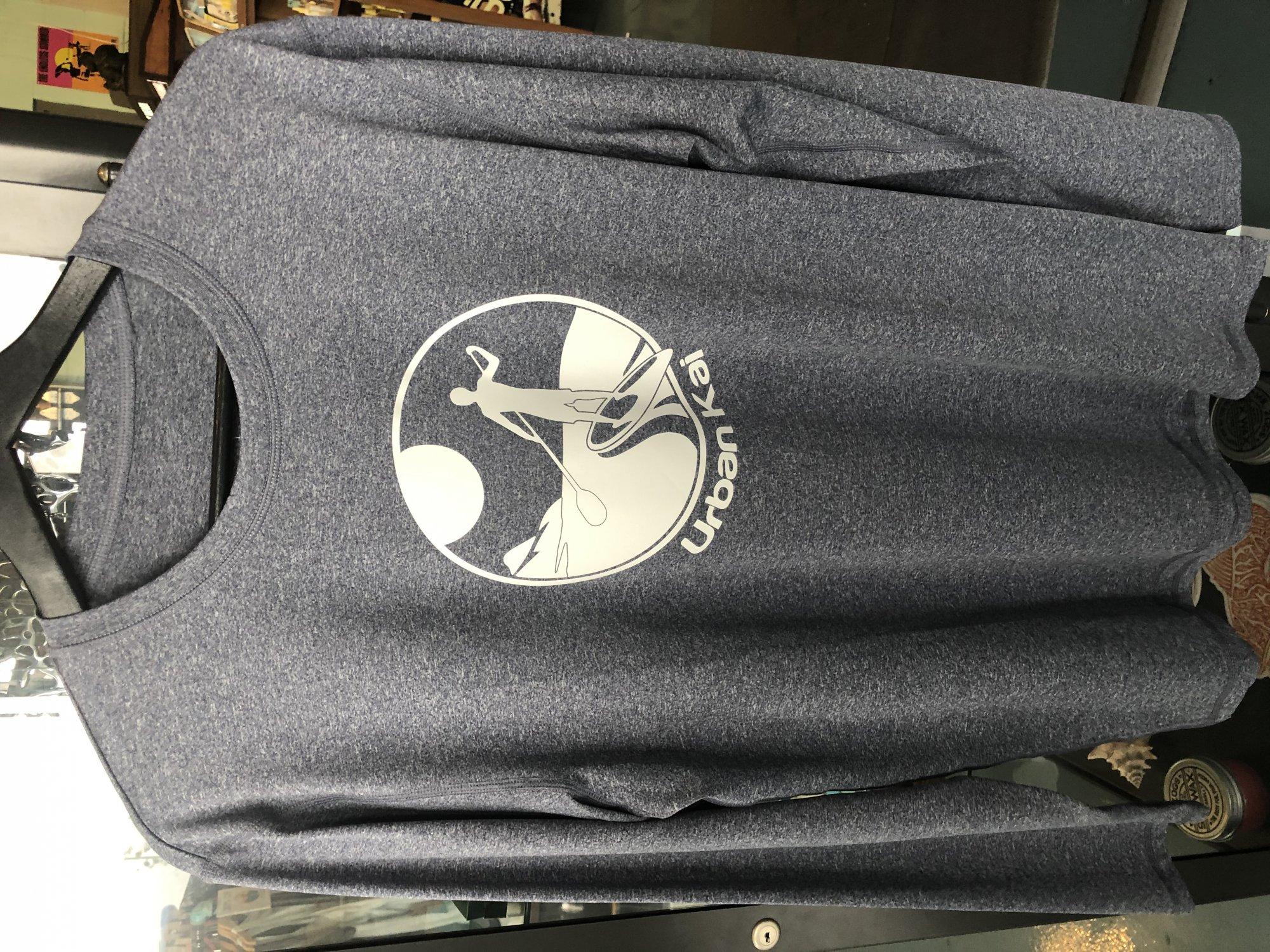 UK L/S Tech Shirt-Heather Navy