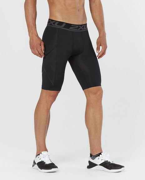 2XU Men's Accelerate Compression Shorts in Black Nero