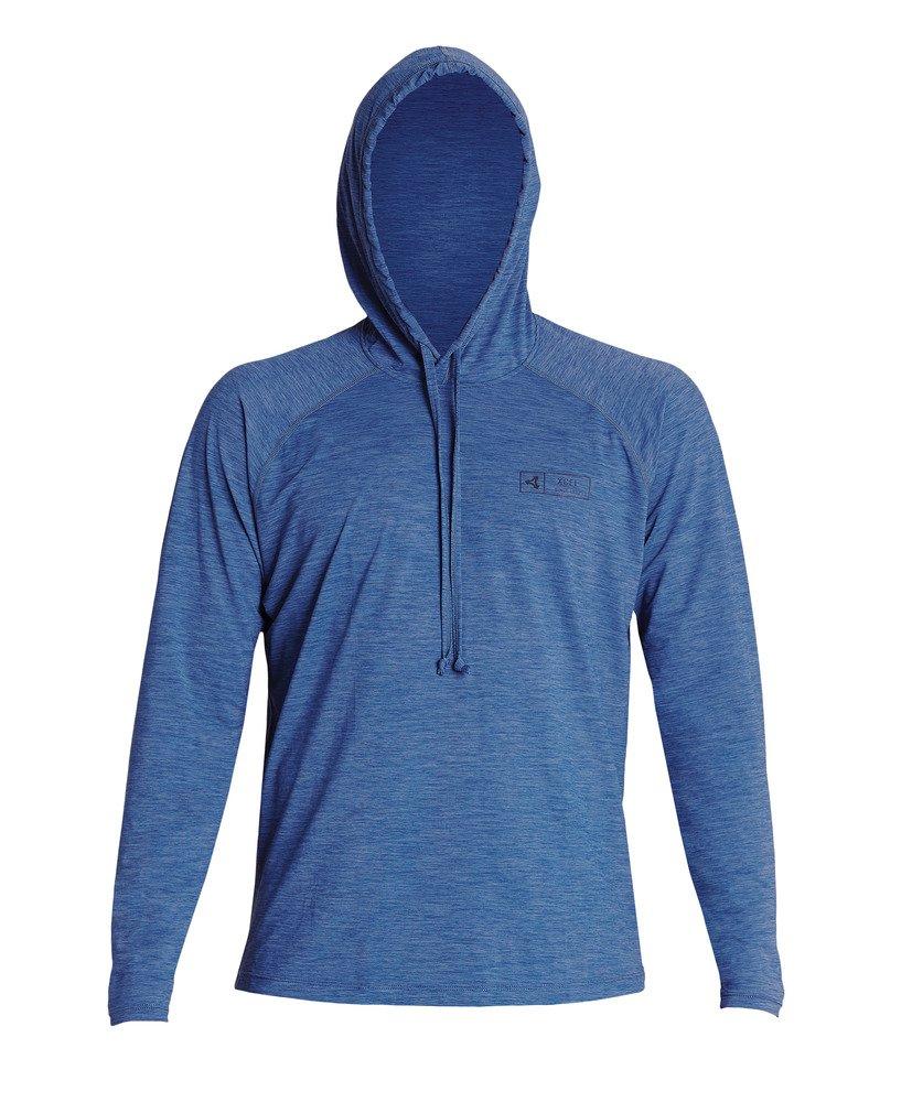 Xcel Men's VentX UV L/S Hooded Pullover in Cascade Blue