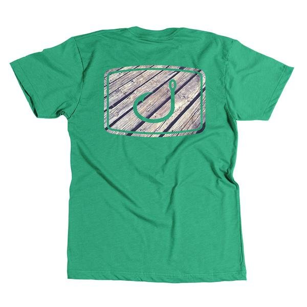 Avid Teak Texture T-Shirt Kelly Heather Green