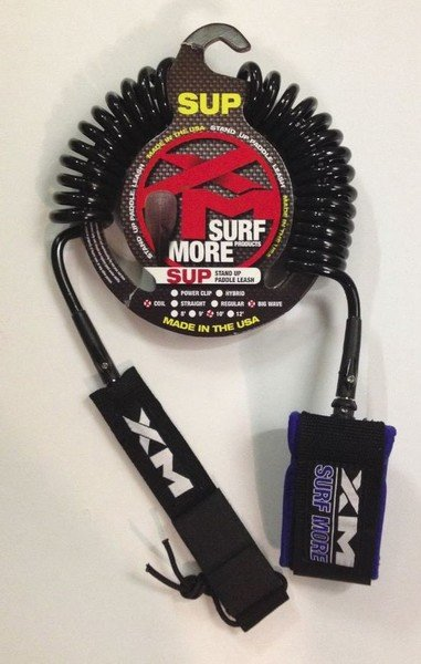 XM COILED 10' SUPLEASH W/POWER CLIP Red