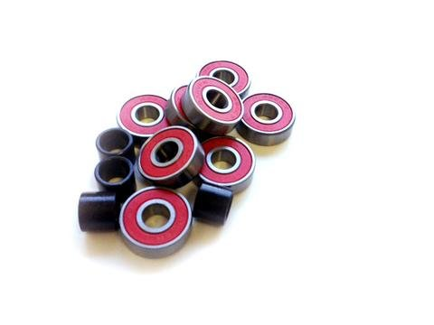 Carver ABEC 7 red oiles double shielded bearings