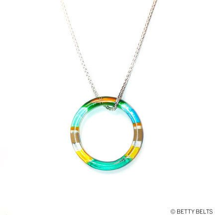 Upcycled Surfite Resin Ring Charm Necklace