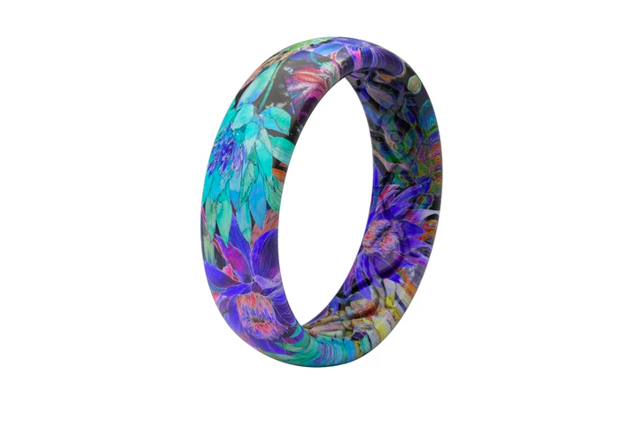 Groove Thin Aspire Twilight Blossom Women's Silicone Ring