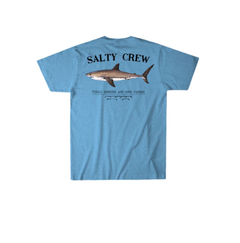 Salty Crew Bruce Short Sleeve T-Shirt in Light Blue Heather