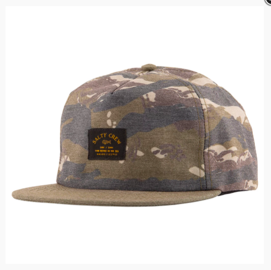 Salty Crew Hat Bimini Two-Tone 5 Panel - Camo