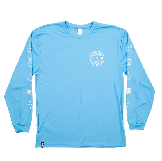 Salty Crew Palomar Tech Tee Shirt in Columbia Blue