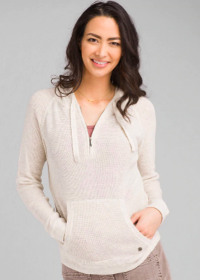 PrAna Women's Milani Hoodie in Moonlight Heather