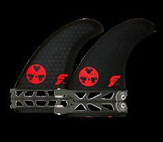 Futures Gerry Lopez GL2 2+1 Thruster-smoke red logo