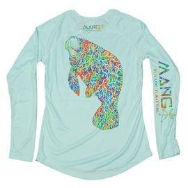 MANG Women's Bimini Twist Manatee Performance Long Sleeve Shirt UPF 50 in Seagrass