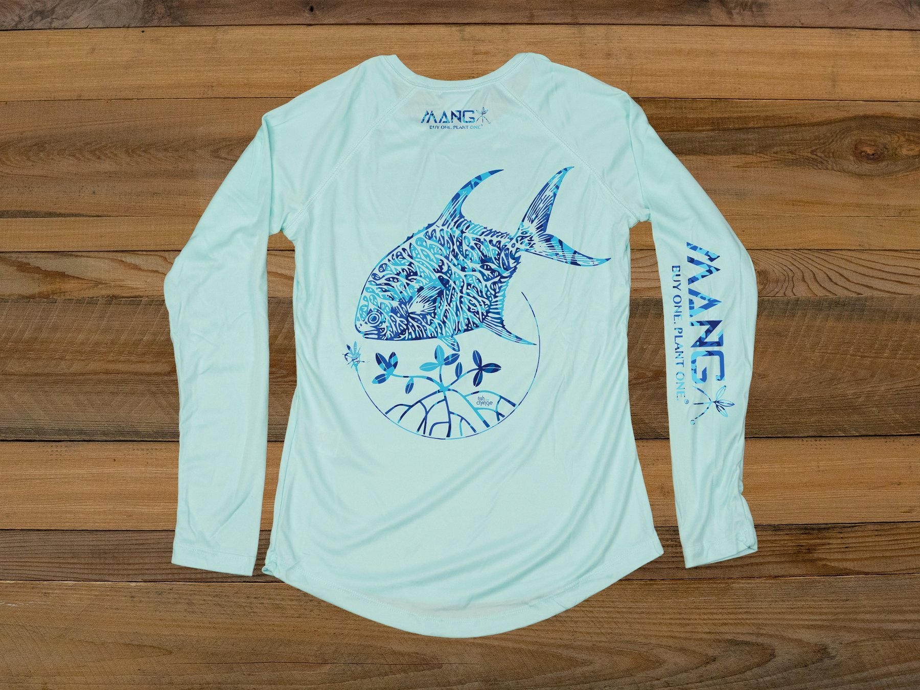 MANG Women's Fish For Change L/S - Seagrass