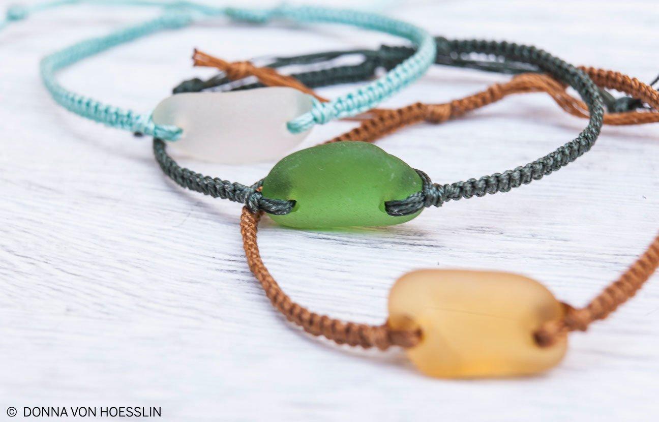 Sea Glass Friendship Bracelet