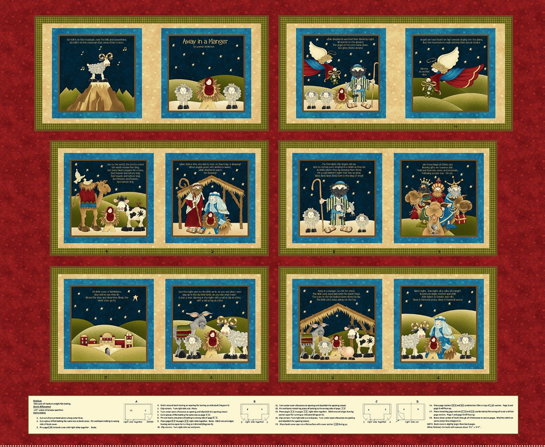 Red Christmas Hymns Book Panel