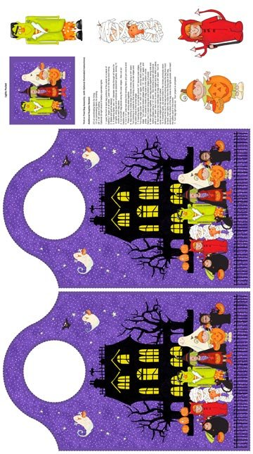 Happy Halloween Panel Trick/Treat Bag
