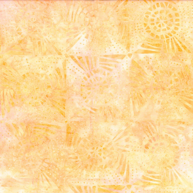 Yellow Quilt Blocks Batik