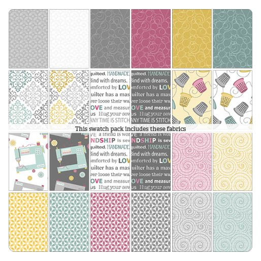 Words to quilt by Charm Pack
