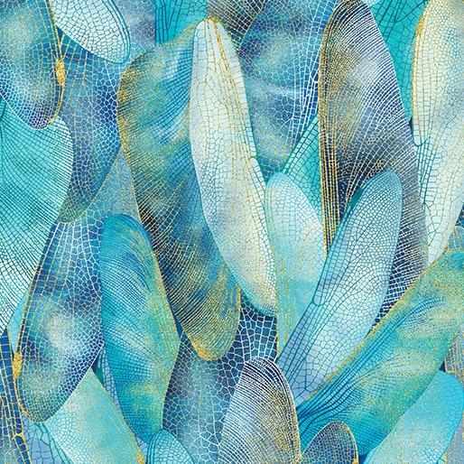 Gilded Wings Aquamarine