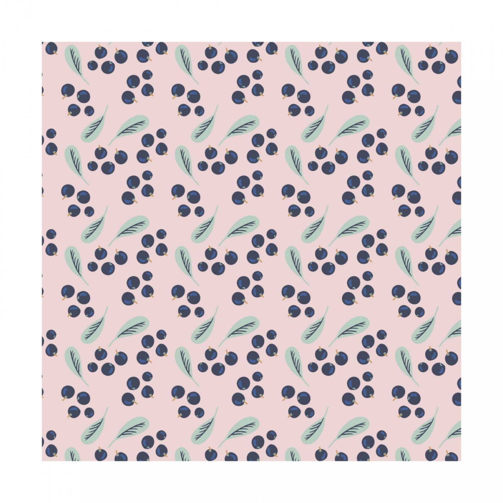 Berry Blossoms - Blueberries pink