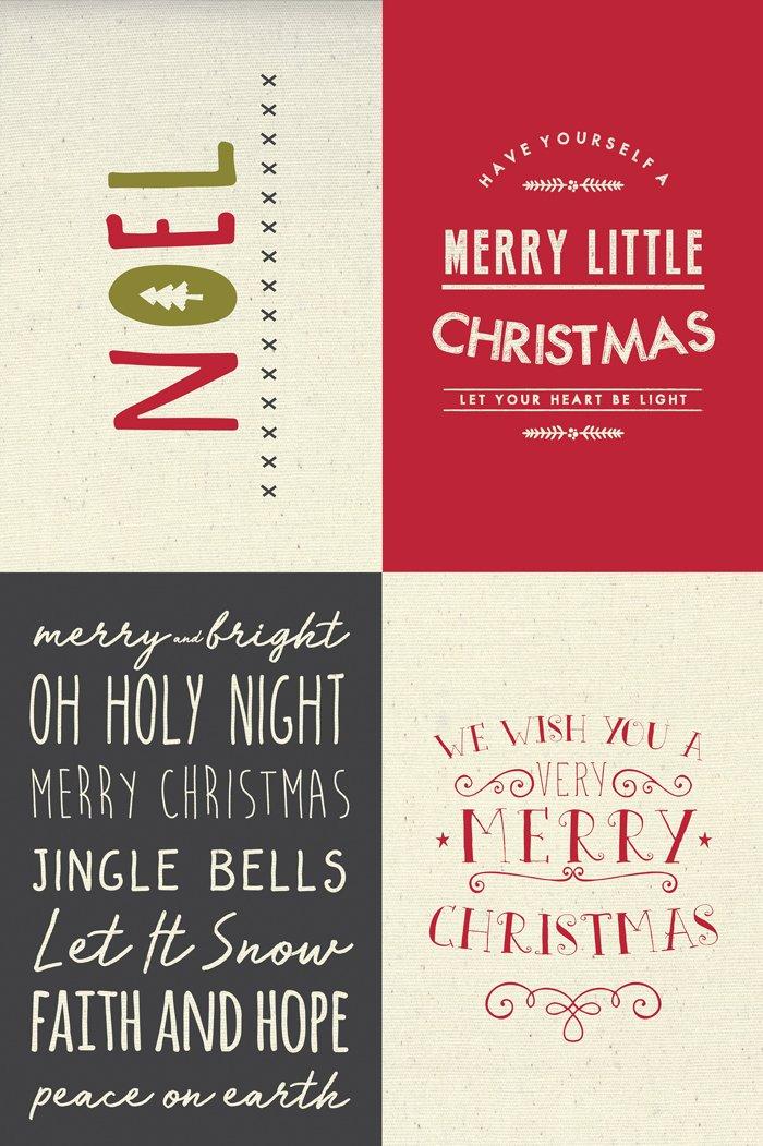 Sampler Panel Christmas - Canvas