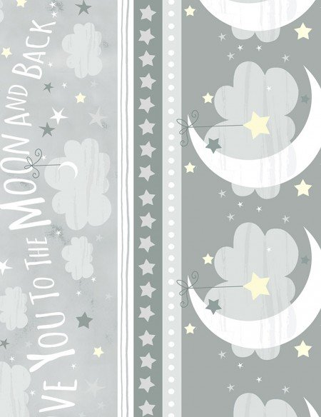 To the Moon and Back Stripe Grey