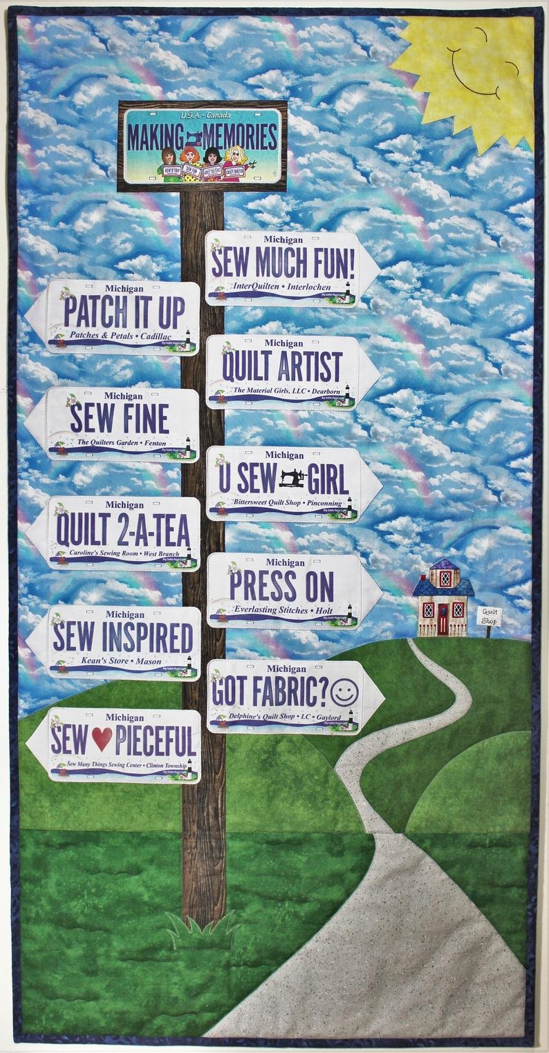 Which Way to the Quilt Shop Quilt Pattern