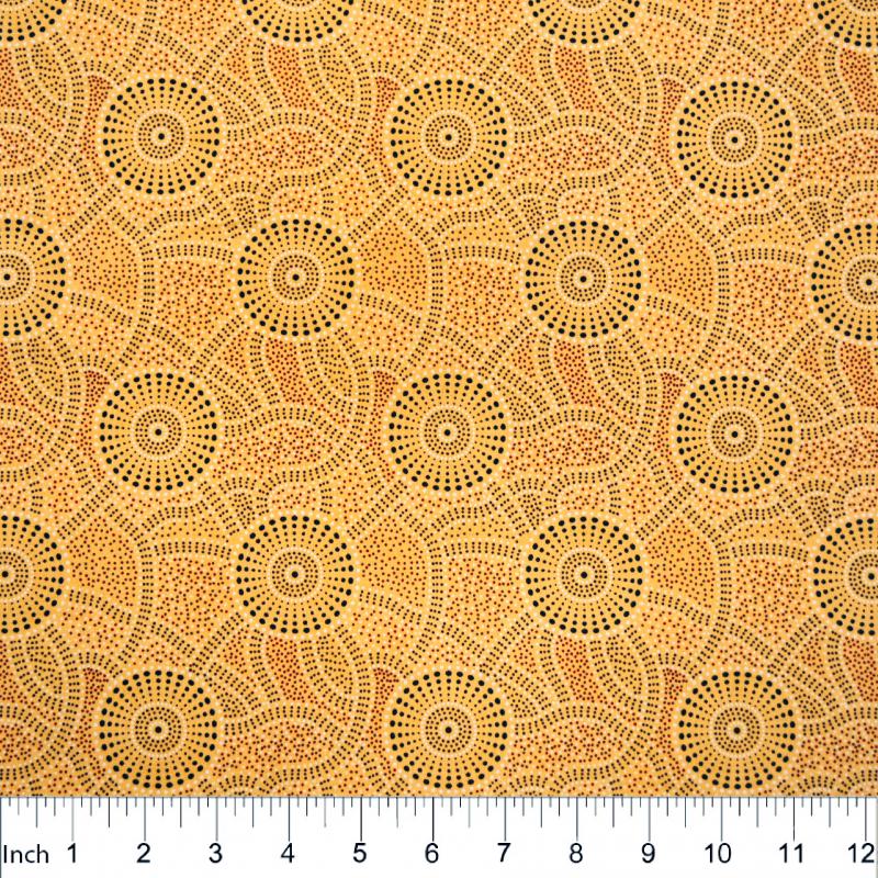 Australian print - Kangaroo Path Yellow