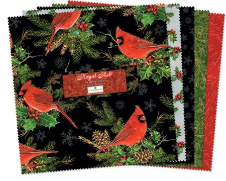 5 in squares Royal Red