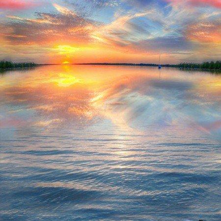 Sunset on Water Panel