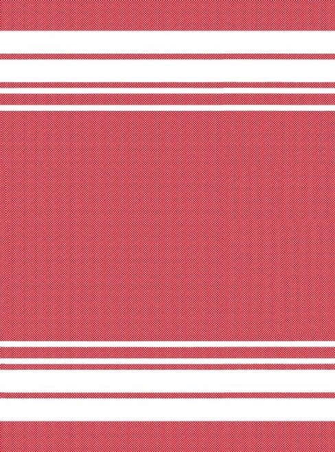 Tea Towel Red w/White Stripe
