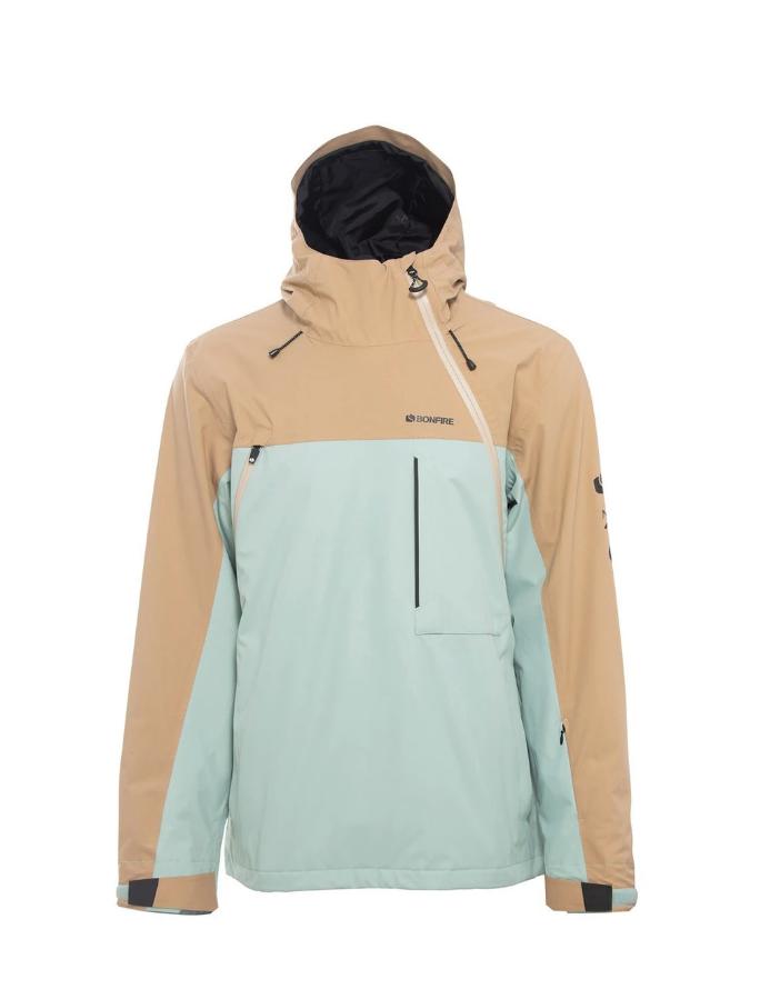 Bonfire Beta Stretch Pullover Anorak Snow Jacket - Desert