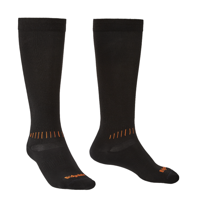 Bridgedale Ski Race Socks - Black/Orange