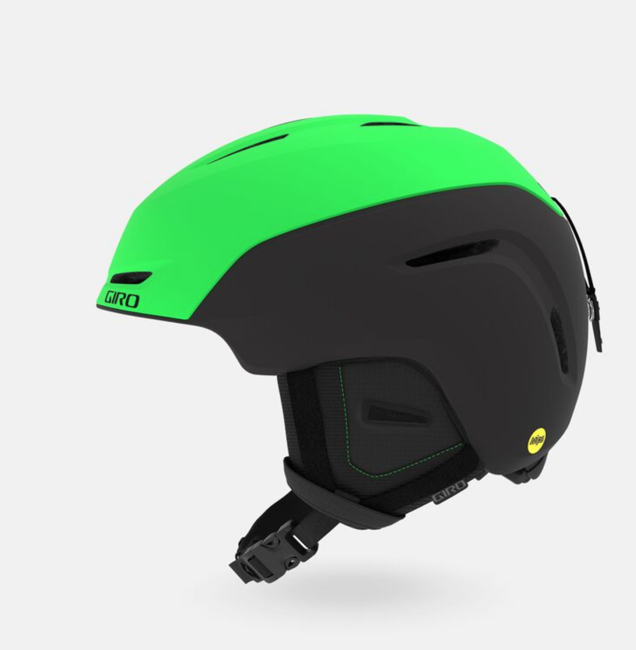 Giro Neo MIPS Snow Helmet - Matte Bright Green / Black