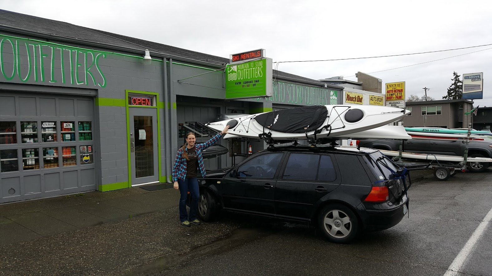 Vehicle racks installed