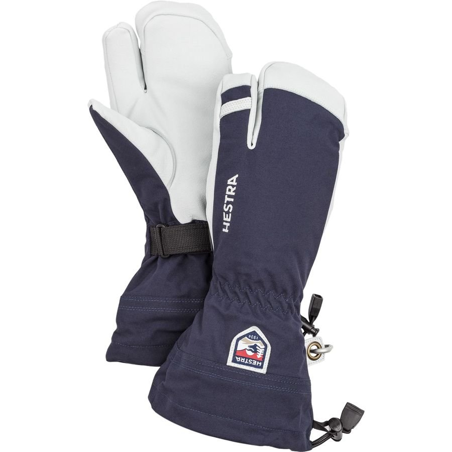 Hestra Army Leather Heli 3-Finger Ski Gloves - Navy
