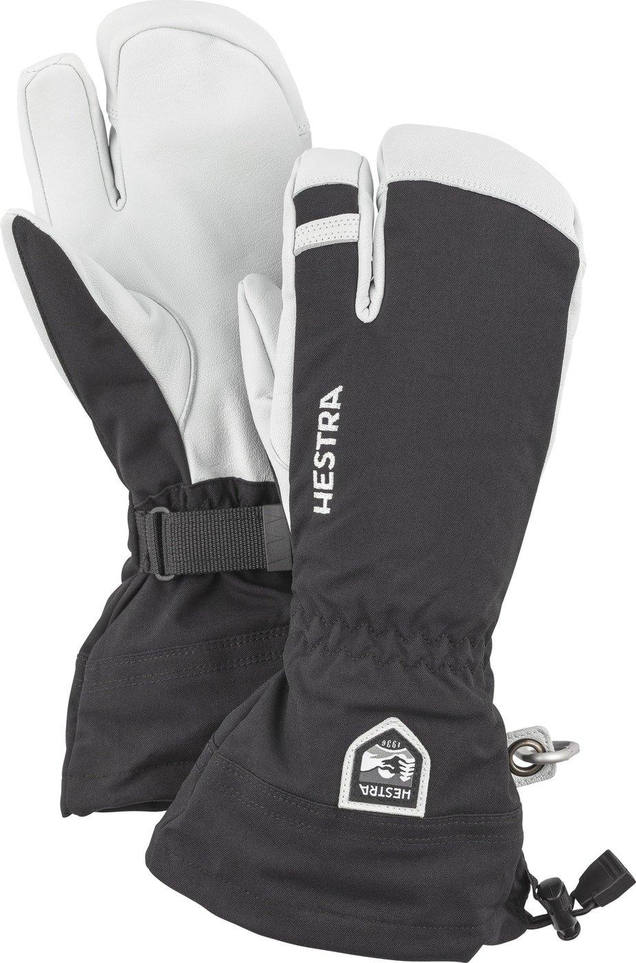 Hestra Army Leather Heli 3-Finger Ski Gloves - Black