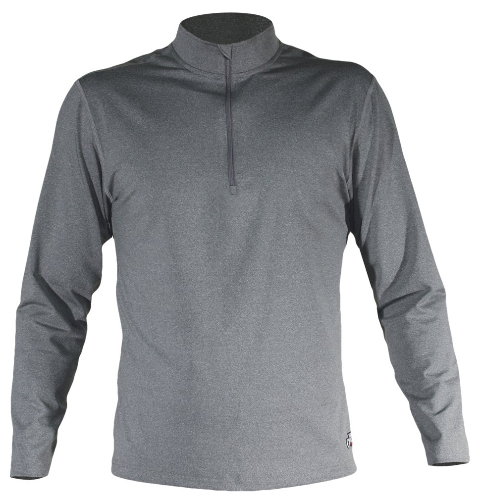 Men Mec Solid Zip-T