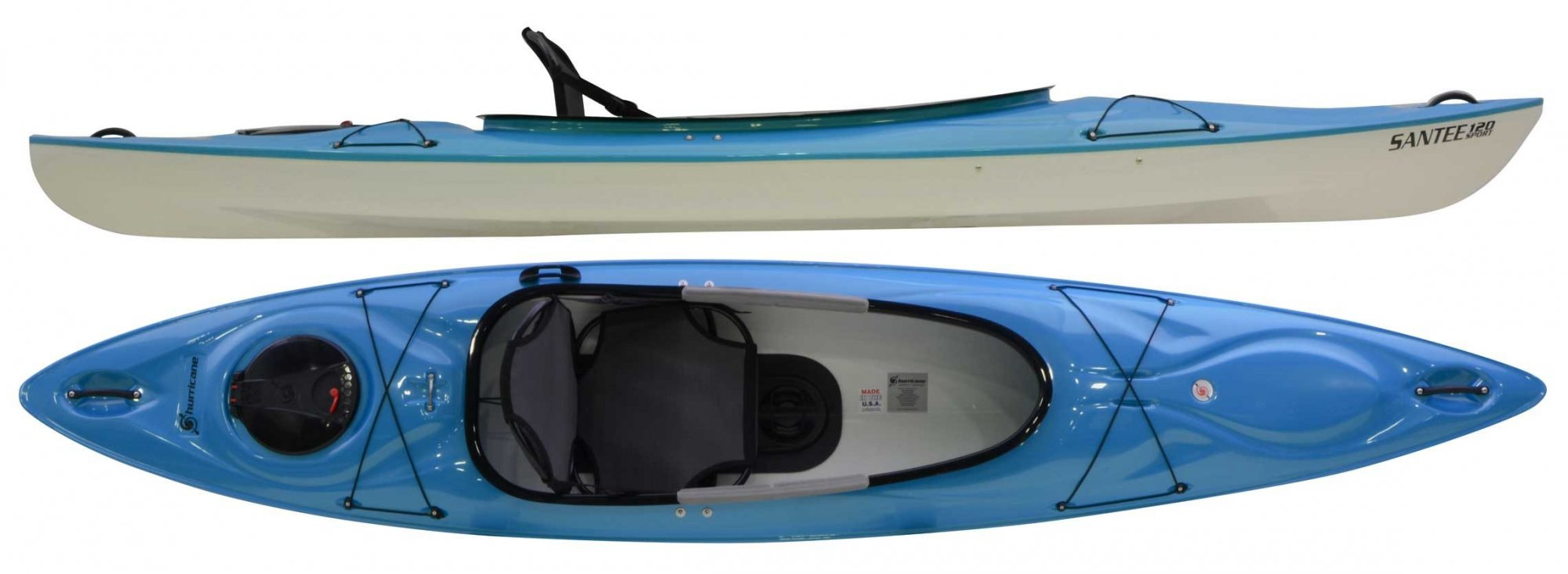Hurricane Santee 120 Sport DEMO Kayak w/ Ultimate Frame Seat and Console