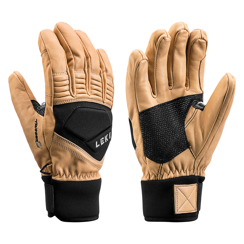 Leki Copper S Ski Gloves - Tan / Black