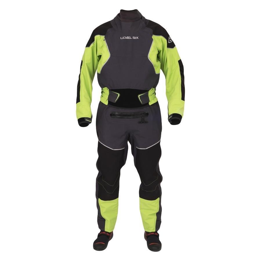Level Six Emperor Rear Entry Dry Suit - Kiwi Green