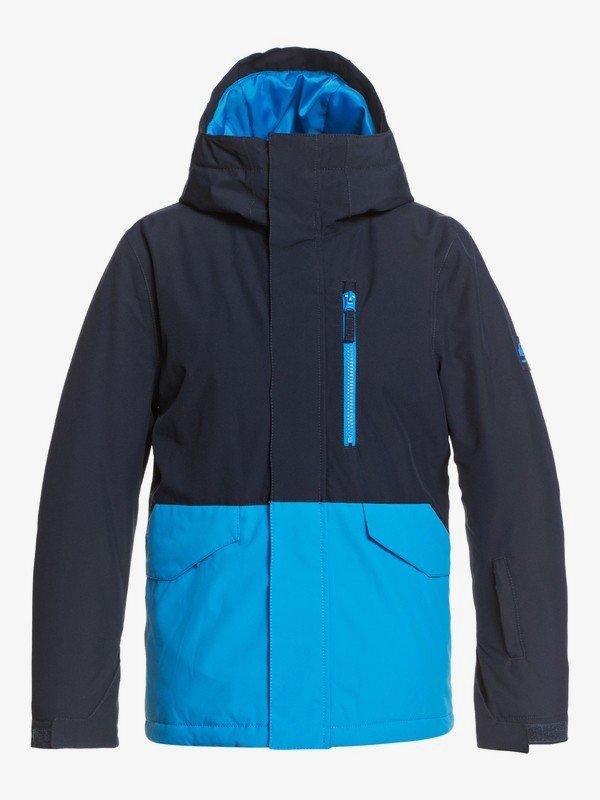 Quiksilver Boy's 8-16 Mission Solid Snow Jacket - Brilliant Blue
