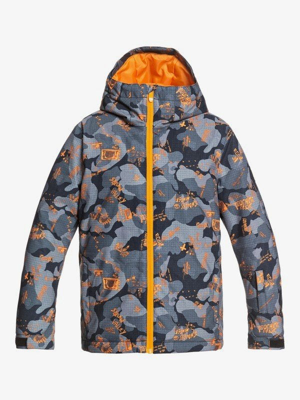 Quiksilver Boy's 8-16 Mission Solid Snow Jacket - Flame Wichita
