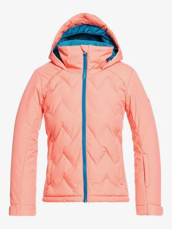 Roxy Breeze Girl 8-16 Snow Jacket - Fusion Coral
