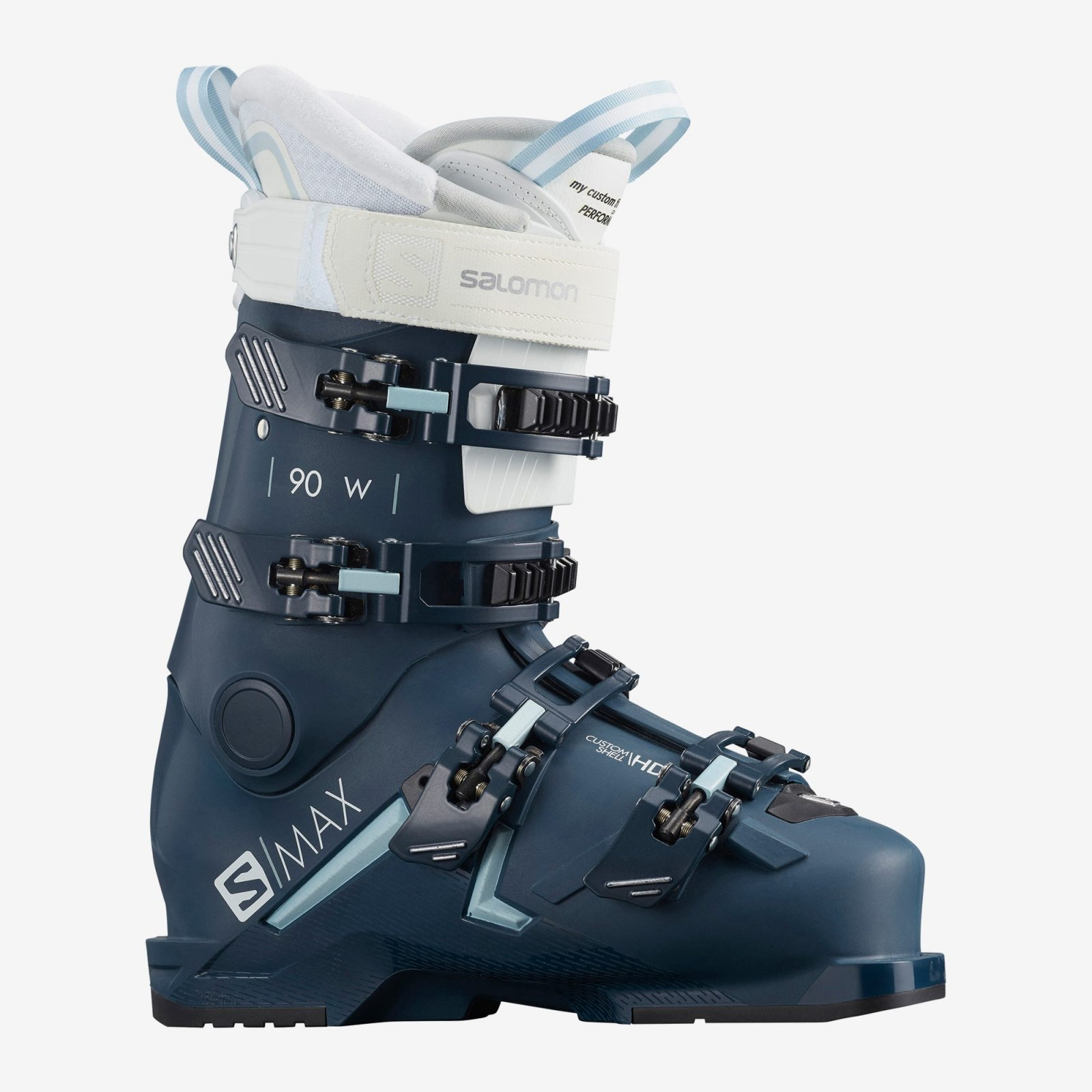 Salomon S/MAX 90 Women's Ski Boots - Petrol Blue/Sterling Blue/White