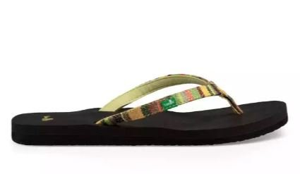 Sanuk Women's Yoga Joy Funk Sandals - Green Kauai Blanket