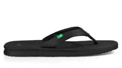 Sanuk Yoga Mat Wander Sandals - Black